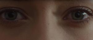 extreme close up on the eyes